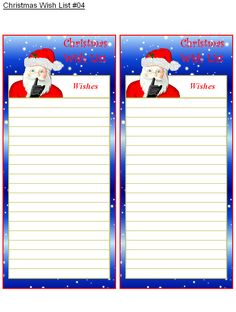 Santa letters do it yourself georgia printable oil change coupons keep track of those special ideas with these holiday bright wish lists each page contains two lists solutioingenieria Images