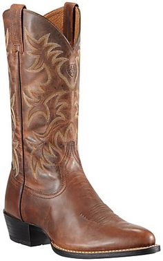 Ariat® Heritage™ Men's Weathered Chestnut Brown R-Toe Western Boots | Cavender's