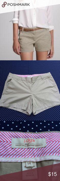 J. Crew Shorts NWOT- never worn- 100% Cotton -5 inch inseam J. Crew Shorts