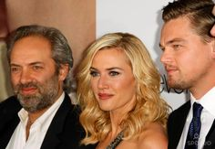 "Sam Mendes, Kate Winslet, Leonardo Dicaprio Director & Actors ""Revolutionary Road"" World Premiere Mann Village Theatre , Westwood, California 12-15-2008 Photo by Graham Whitby Boot-allstar-Globe Photos, Inc."