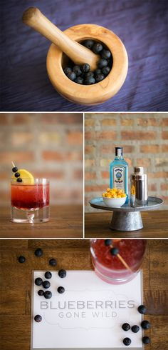 Cocktail Unveil Recipe Blueberries Gone Wild / Rebecca Marie Art Photography / via StyleUnveiled.com cocktail recipes for summer