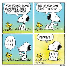 'Eye Exam', Snoopy & Woodstock.