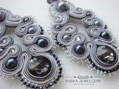 Silver Elegance. Soutache earrings