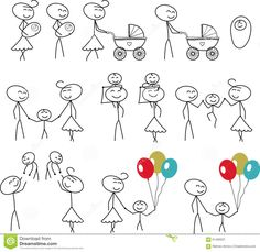 stick letter figures - Google Search