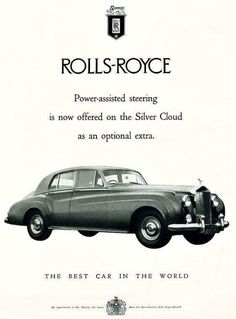 Late fifties-early sixties Rolls-Royce advertisement