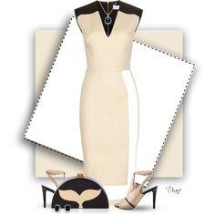 Victoria Beckham Dress by diane-hansen on Polyvore featuring moda, Victoria Beckham, Vince Camuto, Edie Parker and David Yurman