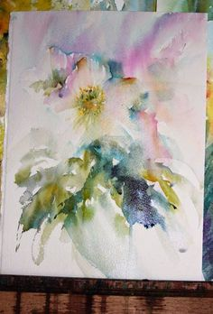 Christmas Roses in Watercolour : Hellebore by jean haines. Watercolor Projects, Watercolor Artists, Abstract Watercolor, Watercolor And Ink, Watercolor Illustration, Watercolor Flowers, Watercolor Paintings, Watercolours, Watercolor Negative Painting