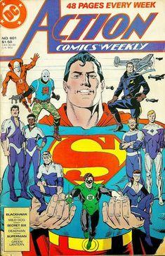 Action Comics Weekly (DC Comics - May Illustrator: Dave Gibbons Dc Comic Books, Comic Book Covers, Comic Art, Action Comics, Dave Gibbons, Green Lantern Hal Jordan, Superman Family, Old Fan, Superman Comic
