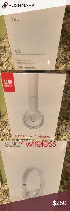 Beats solo Wireless 3 headphones-White Brand new still in packaging beats dolor wireless 3 headphones Other