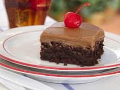 Cherry Cola Brownies - two of my favorites collide!
