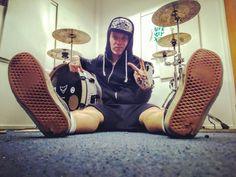 Back inda office again! Stoked to get back on the #MetalcoreSuperstarsTour with @onemorningleftofficial next week!  #OneMorningLeft #DrumLife #BandLife #Drummer #Drums #DrumPorn #Instadrum #DrumsDrumsDrums #DrumOrDie #DrumsOffTheWall #EDenergydrink #Balbex #BalbexDrumsticks #Komppisorvaamo #ImpressionCymbals #Vans #VansOffTheWall #VansHelsinki #WhereMyVansGo #Corepellet #GangstaRapMadeMeDoIt #PsychoWhite #MadafakinNättii @edenergydrink @komppisorvaamo @impressioncymbals @wheremyvansgo @vans…