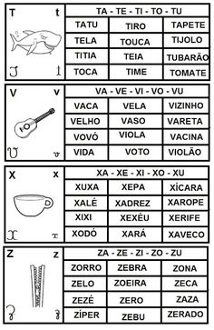 Build Your Brazilian Portuguese Vocabulary Spanish Class, Spanish Lessons, Teaching Spanish, Teaching Kids, Learn Brazilian Portuguese, Portuguese Lessons, Portuguese Language, Learn A New Language, Letter Recognition