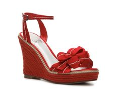 Impo Covet Wedge Sandal in Red. Will be a super cute pop of color with any outfit!