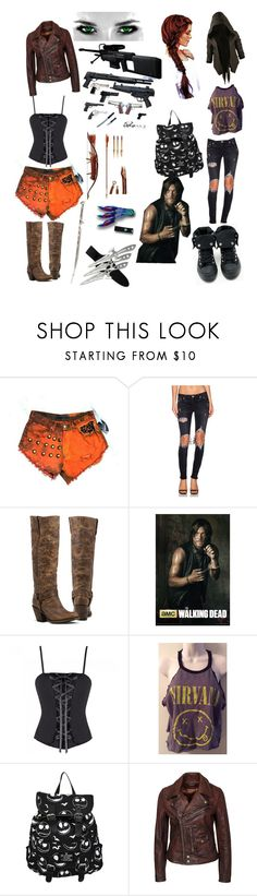 """""""walking dead ~ Oc"""" by zayne-jinxie ❤ liked on Polyvore featuring Lovers + Friends, Converse, Polo Ralph Lauren, Nicholas K and RIFLE"""