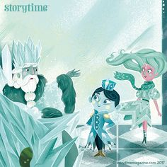 Our amazing Frost Fairies fairy tale in Storytime Issue 40, illustrated by Davide Ortu. The perfect story for winter! ~ STORYTIMEMAGAZINE.COM