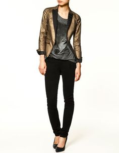 I would wear this blazer everywhere with everything if I owned it...