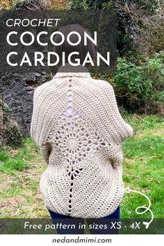Easy Crochet Shrug, Crochet Shrug Pattern Free, Gilet Crochet, Free Crochet, Granny Square Crochet Pattern, Chunky Crochet, Easy Crochet Patterns, Crochet Shawl, Crochet Yarn