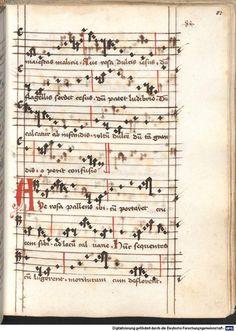 Cantionale, Geistliche Lieder mit Melodien. Münchner Marienklage Tegernsee, 3. Drittel 15. Jh. Cgm 716  Folio 83