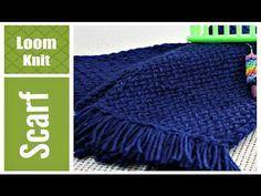 Loom Knit Scarf For Beginners Step By Step Very Detailed , webstuhl-strickschal für anfänger schritt für schritt sehr detailliert , écharpe en tricot loom pour les débutants étape par étape très détaillée Round Loom Knitting, Loom Scarf, Loom Knitting Stitches, Knifty Knitter, Loom Knitting Projects, Easy Knitting, Knitting Scarves, Knitting Ideas, Knitting Sweaters