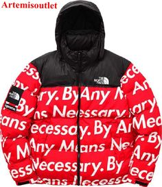 Supreme X The North Face Nuptse Red Jacket Online Sale with Affordable Price.