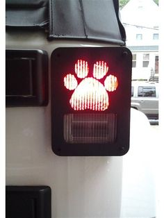 """Paw print"" Jeep Wrangler Jk model tail light guards. 2pc set includes free shipping!"