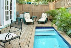 A perfect 'cocktail pool' for 2 or 4, just 2 blocks from the schooner Wharf. Island Village Cottage | Key West Rentals