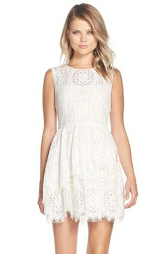 BCBGMAXAZRIA+Sleeveless+Lace+Dress+available+at+#Nordstrom