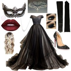 Masquerade Party by narniachild on Polyvore featuring Christian Louboutin, Bloomingdale's and Lauren Ralph Lauren