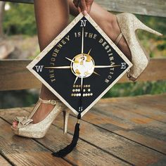 Pin for Later: 28 Graduation Cap Ideas For Students With Serious Wanderlust