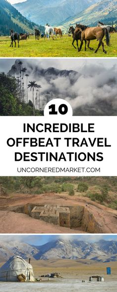 A guide to the best offbeat travel destinations around the world... 10 destinations you've probably never considered visiting, but should. If you're looking to veer off the well trodden tourist path in search of a country that is completely unique to what you're used to, these off-the-beaten path destinations are for you. | Uncornered Market Travel Blog