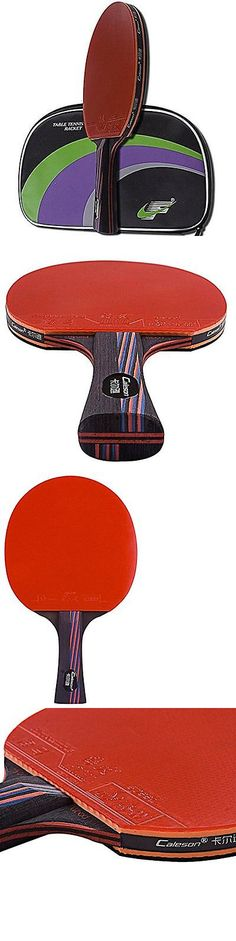 Paddles 36277: Caleson Professional Table Tennis Racket With Double Carbon Blade .Ping Pong New -> BUY IT NOW ONLY: $99.08 on eBay!