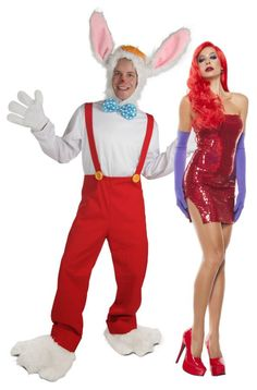 """""""SHE married HIM?"""" """"What a lucky goylll."""" Roger Rabbit themed couples costume idea."""