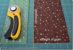 sewing beginners how to; how to find the fabric grain