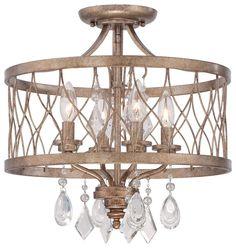 Cleveland Lighting   West Liberty - Four Light Convertible Semi-Flush Mount