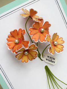 50 Ideas diy paper bouquet stampin up Paper Cards, Diy Cards, Diy Paper, Flower Cards, Paper Flowers, Invitation Fete, Scrapbook Cards, Scrapbooking, Paper Bouquet