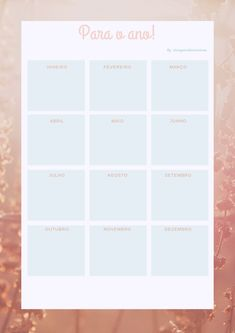 planner  anual   - para o ano Planner, Free Printables, Bullet Journal, February, November Born, The Year, Yearly, Free Printable