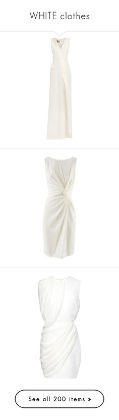 """WHITE clothes"" by priscilla12 ❤ liked on Polyvore featuring dresses, gowns, long dresses, vestidos, cream, satin dress, stripe dress, white satin dress, satin evening gown and white evening dresses"