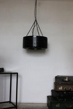 Lampa loft vintage z bębna ecO design