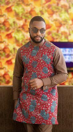 African Shirts For Men, African Dresses Men, African Attire For Men, African Clothing For Men, Nigerian Men Fashion, African Men Fashion, Native Wears, Ankara Dress, Dapper Men