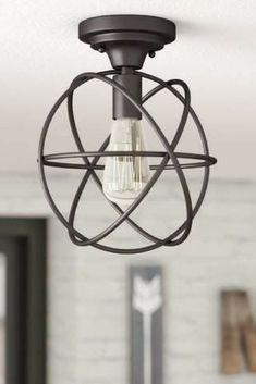 Gorgeous light! Trent Austin Design Allagash 1-Light Semi Flush Mount #ad