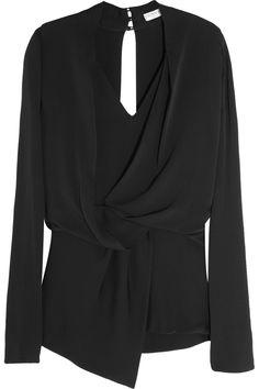 Vionnet|Open-back stretch-silk top|NET-A-PORTER.COM