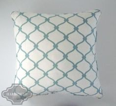 COCOCOZY: Fence Linen Pillow - Light Blue