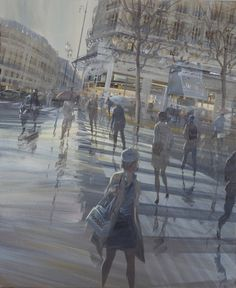 Kerdalo exposure to Alain Daudet gallery in Toulouse. Contemporary painter. Contemporary Art Gallery, France.