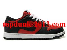 new concept 98a5e 1ca63 Black Red Varsity Leather Nike Dunk Low High Quality. Morteng Top