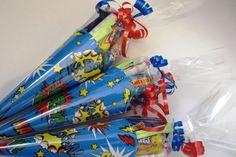 x1 Pre-filled sweet cone/party bag/party bag filler/pop art/Super Hero/favours