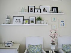 Happy At Home: DIY WIDE Photo Ledge