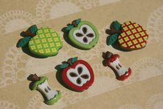 Apple Buttons Apples Button Granny Smith di LittleRedCottage