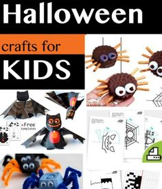 Halloween crafts for Kids. (I'm just going to pretend I'm still a kid.)