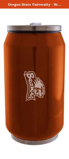 Oregon State University - Stainless Steel Tailgate Can - Orange. The Oregon State University Stainless Steel Tailgate Can will look great while keeping your beverages cool. This product is a great fit for any outdoor activity. The image is laser etched to ensure a completely durable product.