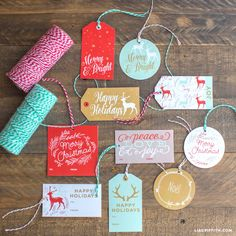 Printable Holiday Gift Labels